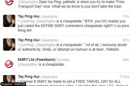 Tay Ping Hui in war of words with owner of fake SMRT TWITTER account