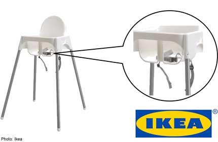 sc 1 st  AsiaOne & IKEA recalls ANTILOP childrenu0027s high chair belt