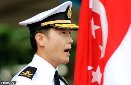 Singapore navy welcomes new chief