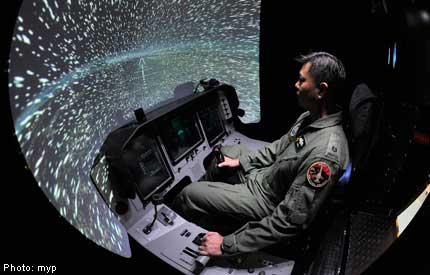 RSAF Open House: Inside an F-16 fighter jet