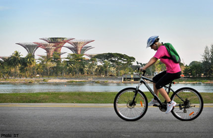 Work begins on Marina Bay cycling network