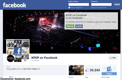 kpop facebook pages