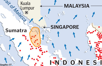 Four times as many hotspots in Sumatra now