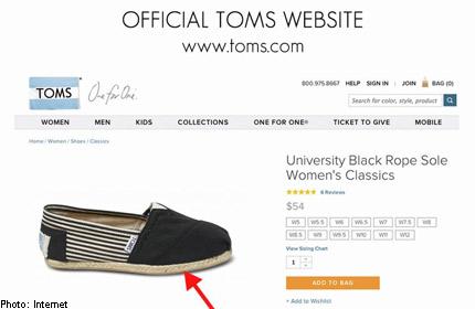 74f46da53e8 Fashion store warns against  fake  Toms