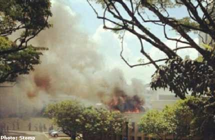 Fire at Singapore Polytechnic food court