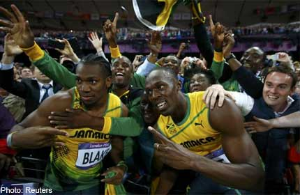 Bolt, rivals react after 100m final