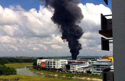 Fire at Sungei Kadut factory brought under control