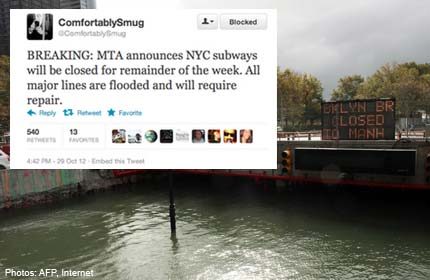 Online 'troll' apologises for false Sandy tweets