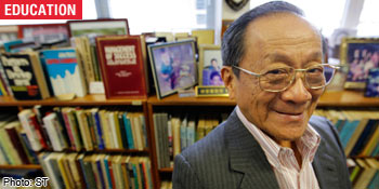 ... the straits times growing up in poverty professor LIM CHONG YAH was