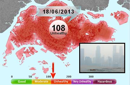 Health fears rise as haze worsens - Singapore