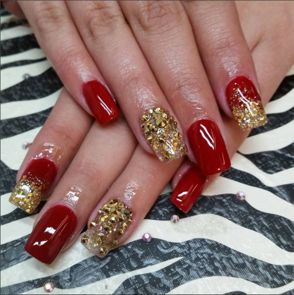 18 pretty red manicures to get you inspired for Chinese New Year ...