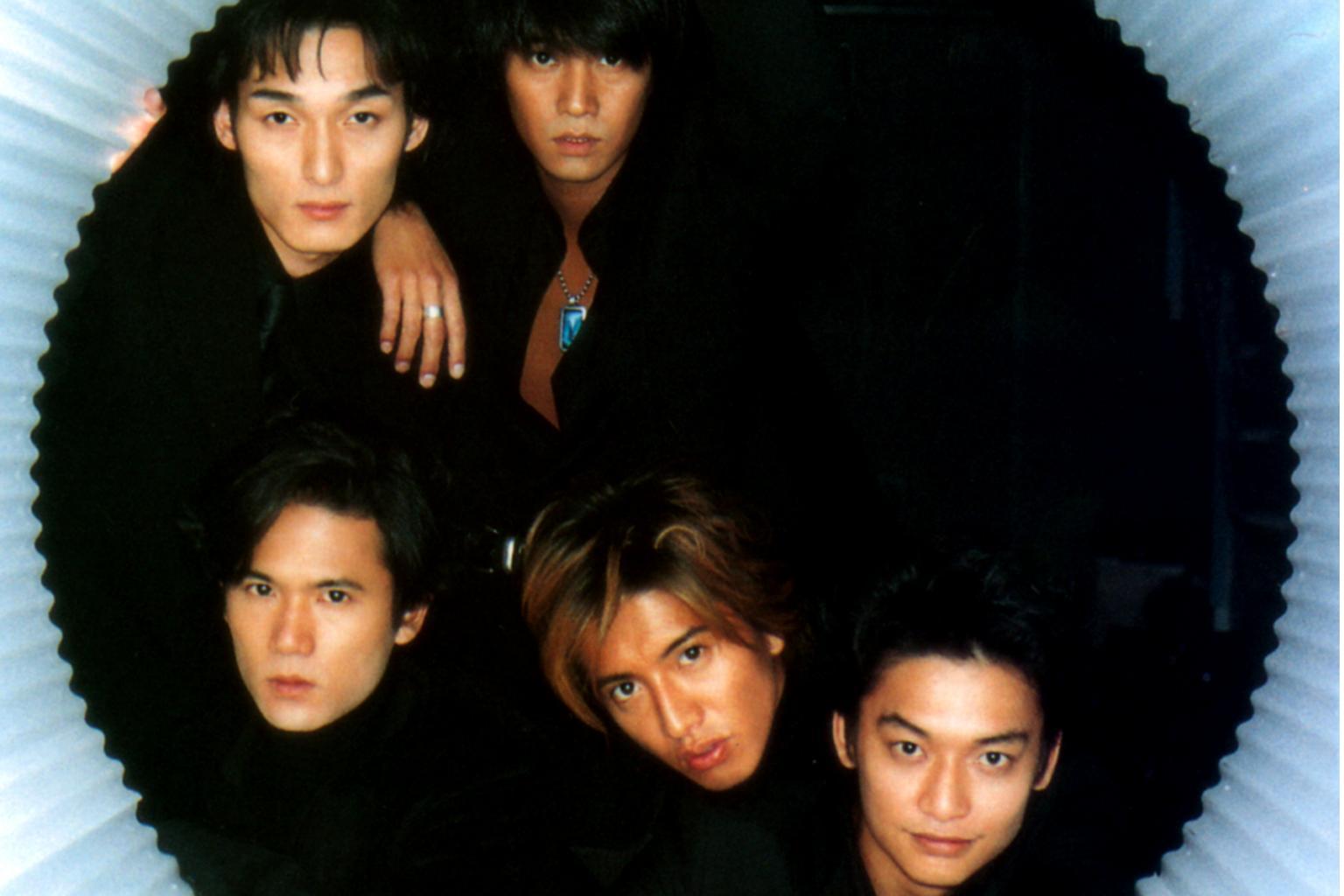 J-pop group SMAP (clockwise from bottom right) Shingo Katori, Takuya  Kimura, Goro Inagaki, Tsuyoshi Kasanagi and Nakai Masahiro.