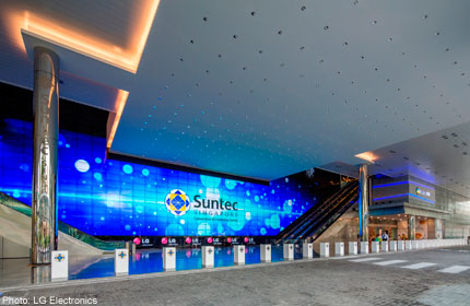 Suntec Unveils Largest Digital Wall Of Over 600 Hd Screens News Asiaone