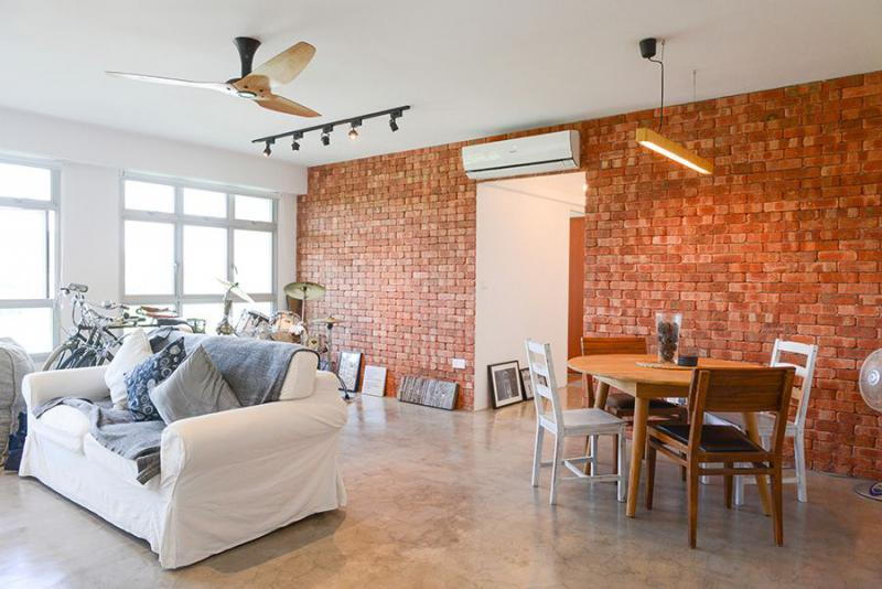 Couple inspired by New York lofts in design of 5-room HDB