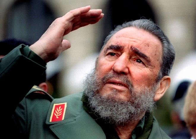 Castro caned his spear out