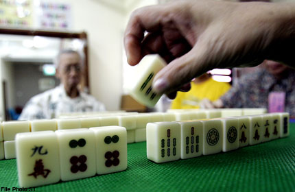 Image result for mahjong elderly