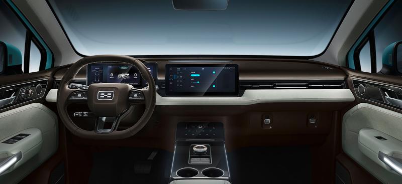 Interior of Aiways U5 flagship car