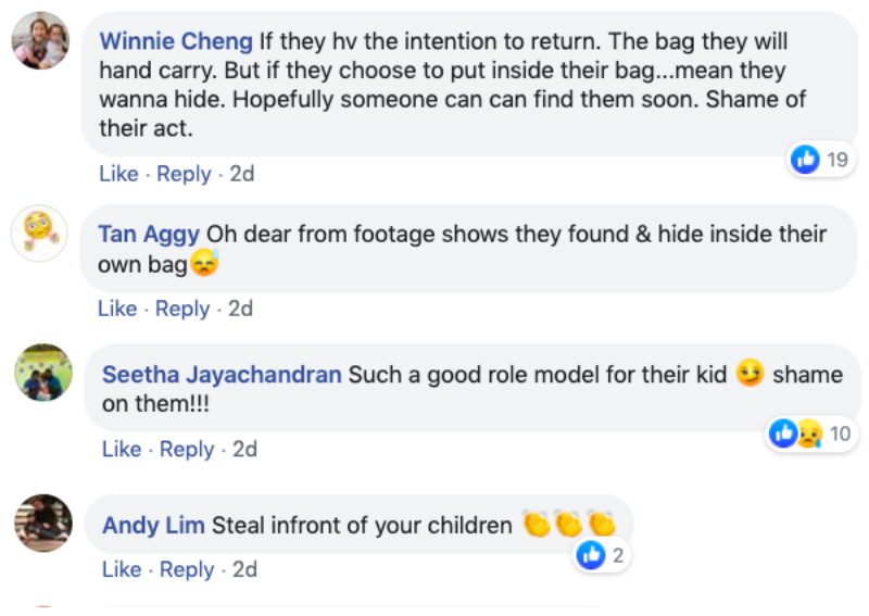 parents steal kids bag