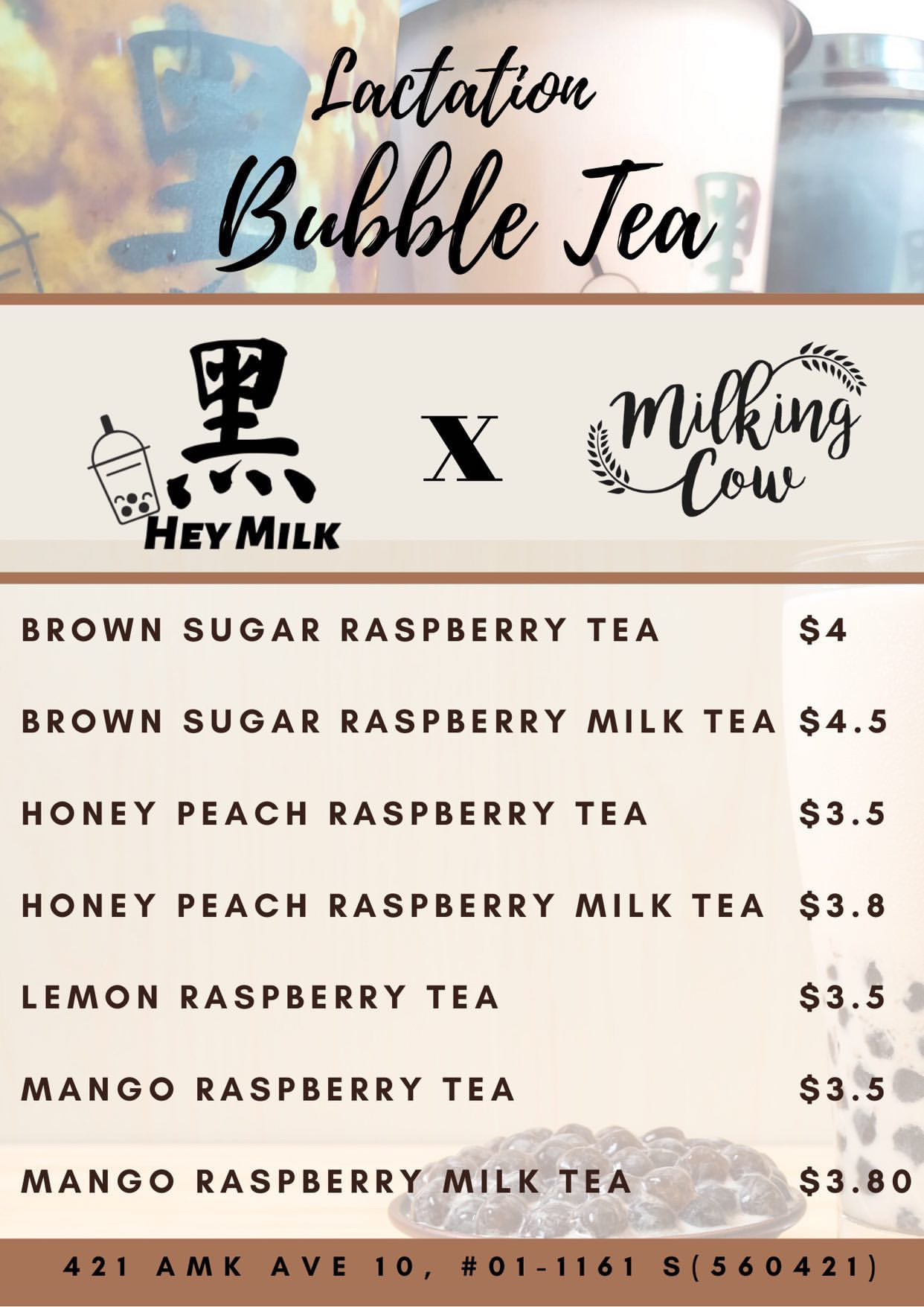 Lactation bubble tea