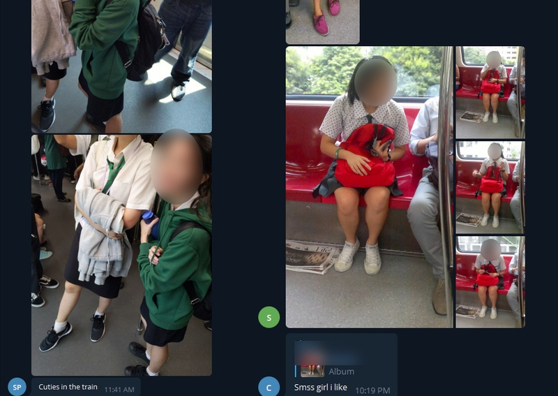 SharingIsCaring: Secret Telegram Group Circulating Pictures Of Schoolgirls On MRT
