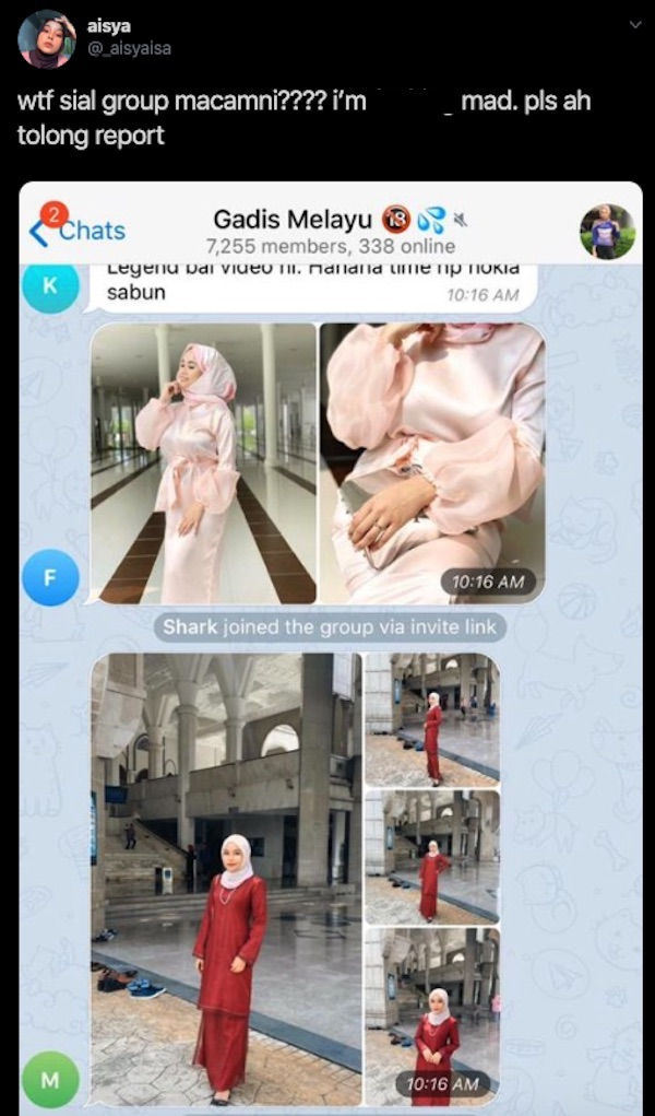 Telegram group outed for sharing images of Malay women