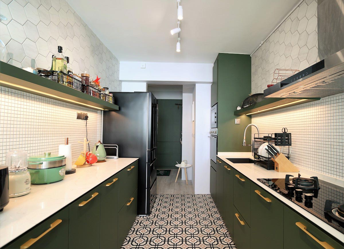 9 good looking kitchens in Singapore with no upper cabinet ...