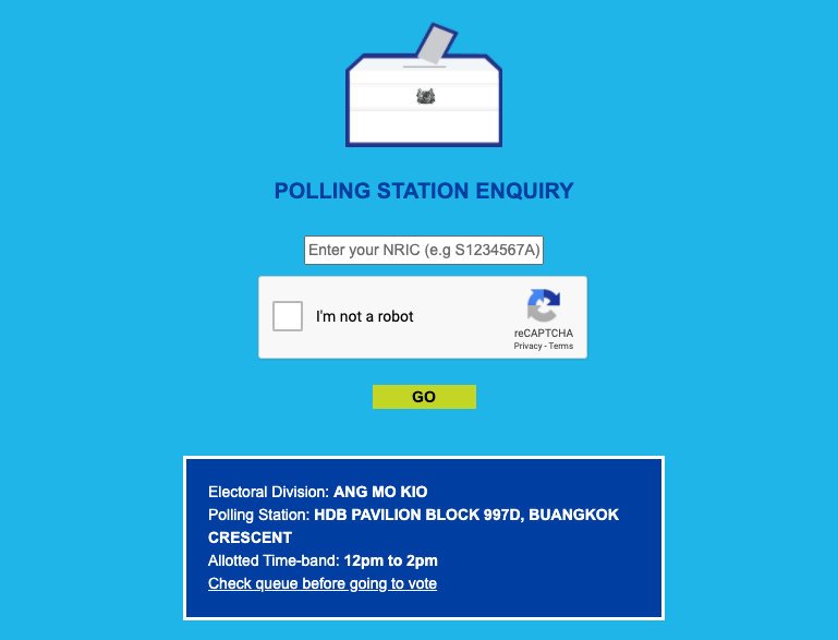 GE2020: How to Check Where Your Polling Station is and the Time Slot You're Supposed to Vote