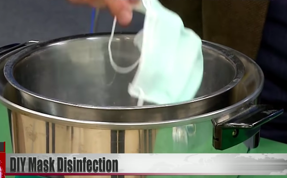 How to disinfect masks