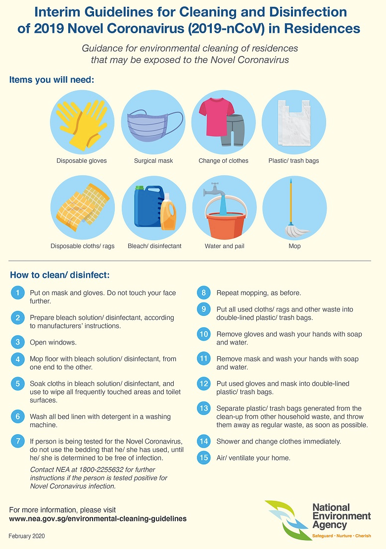 NEA Puts Out List Of Household Cleaning Products That Are Effective Against The Wuhan Virus