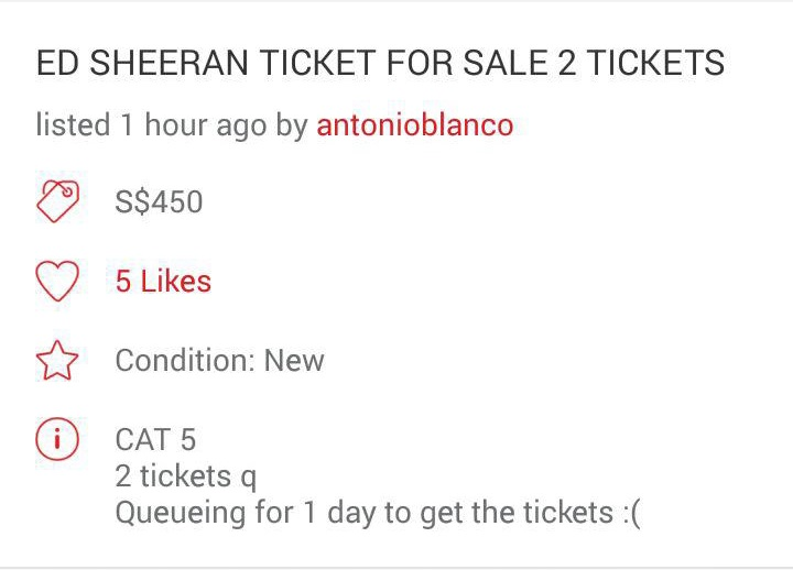 Tickets to Ed Sheeran Nov 11 concert sell out in 40 minutes