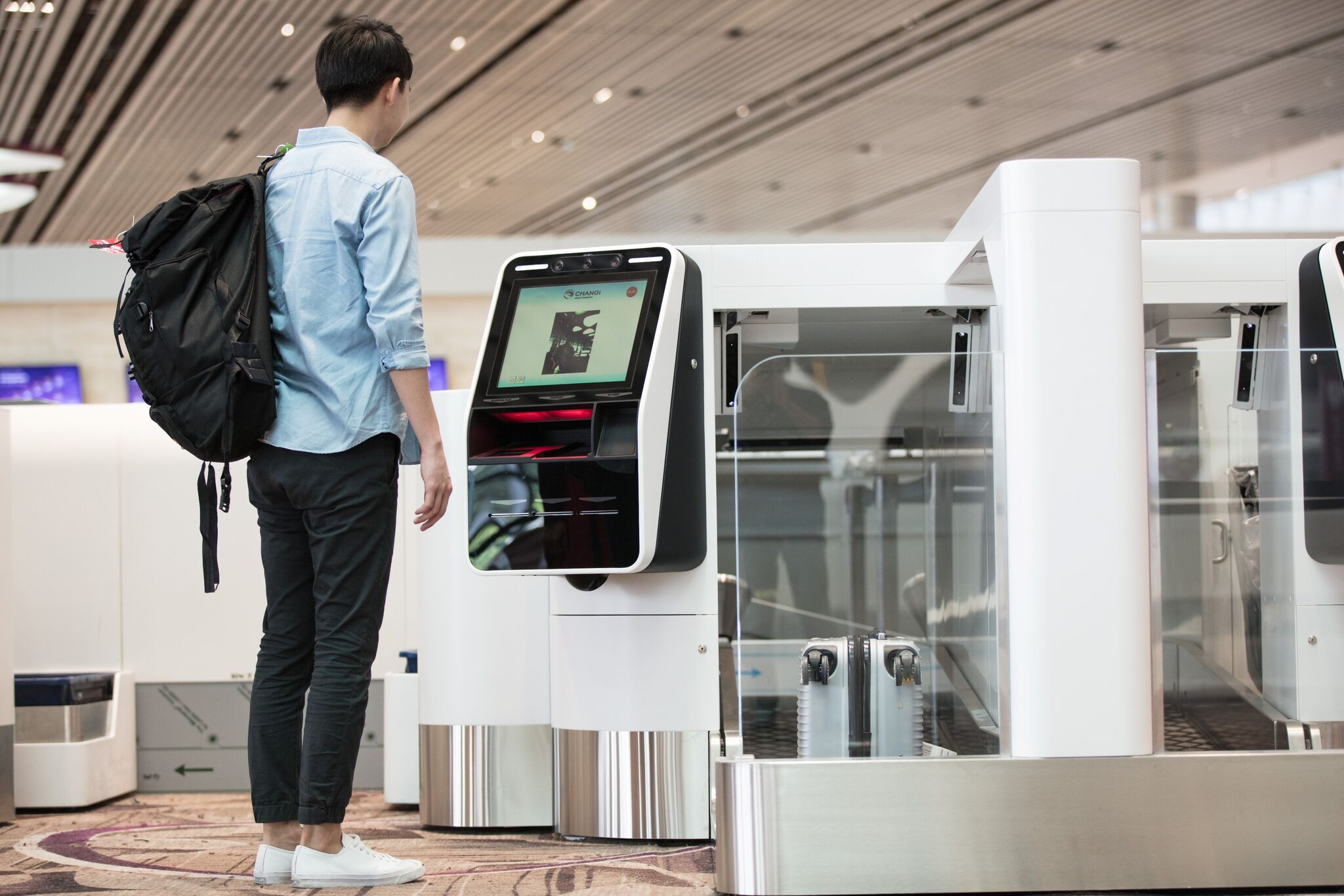 Automated bag drop Photo: Changi Airport Group