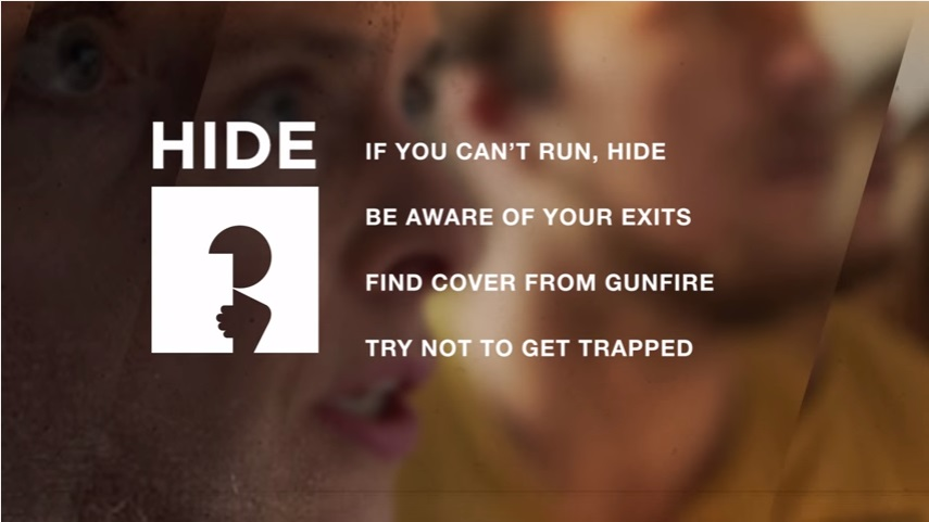 'Run, hide, tell': Holidaymakers urged to watch terror attack film