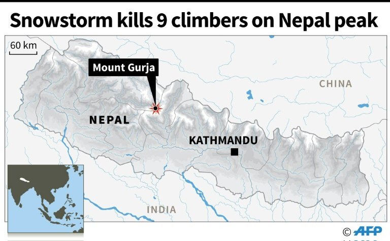 Eight climbers dead after in snowstorm on Nepal's Mount Gurja