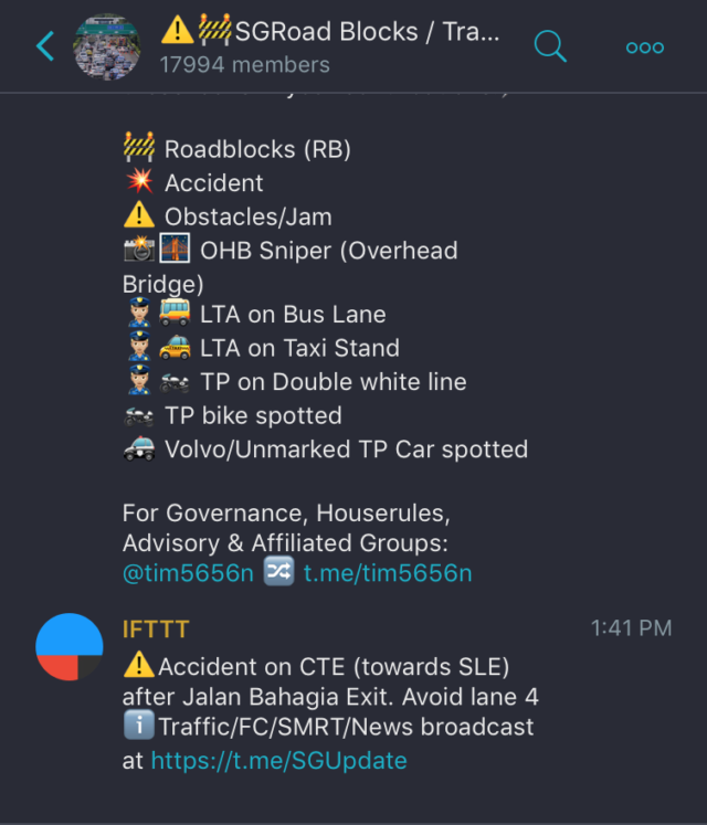Useful Telegram bots & channels that every Singaporean