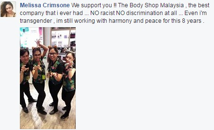 People are standing up for The Body Shop Malaysia after racist job