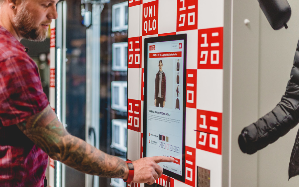 Uniqlo now sells clothes through vending machines