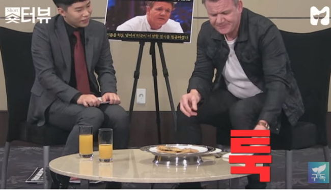 Chef Gordon Ramsay spurns Korean street food on live TV