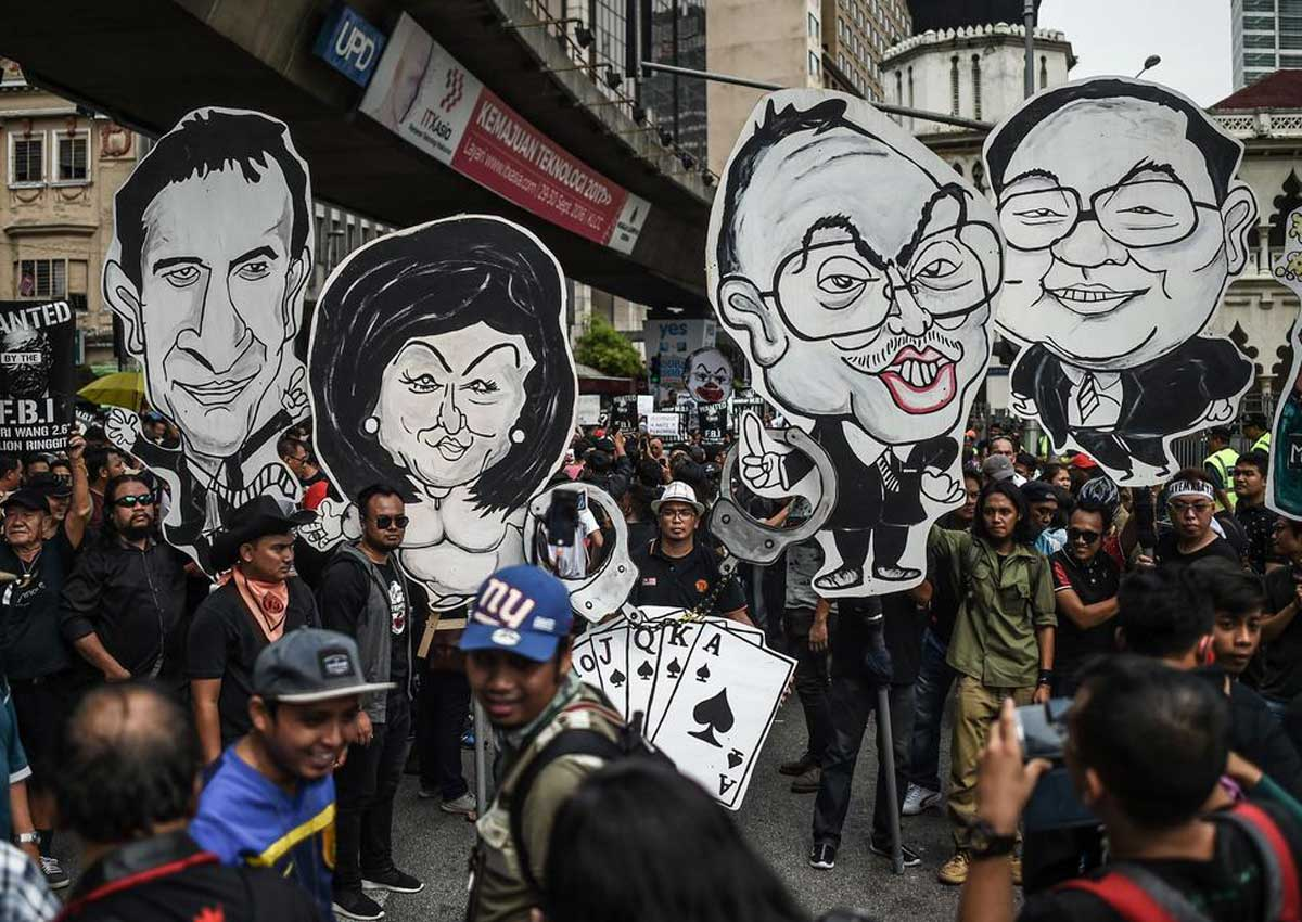 Demo yang dilakukan mahasiswa dan pekerja di Kuala Lumpur demi mengusut data finansial istri PM Malaysia
