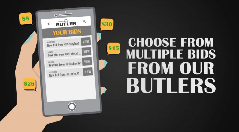 Captivating ... Preferred Bid And Communicate With The Butler Via Text To Settle Minor  Details. Payment Is Made Through The App Itself, Once The Errand Is  Completed.