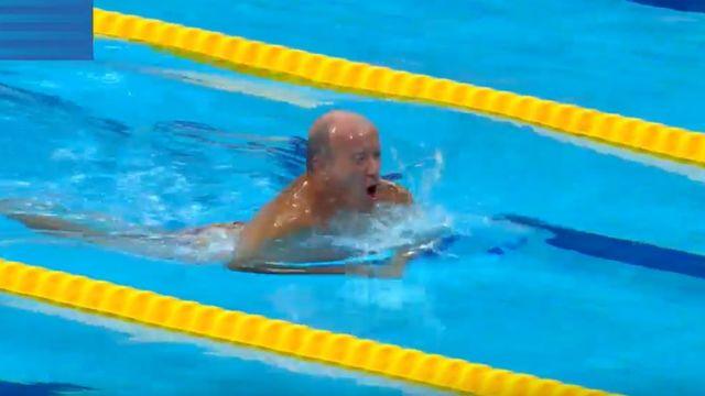 Spanish swimmer Fernando Alvarez gives race away for Barcelona attack victims