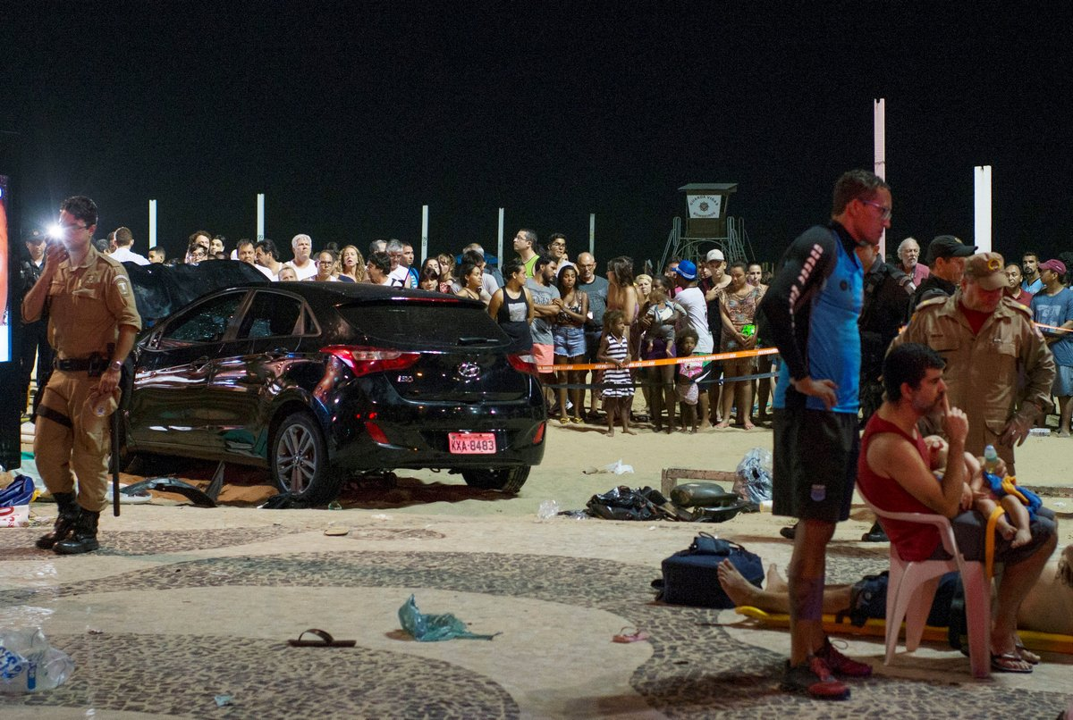 Motorist kills infant and injures 17 others on crowded promenade