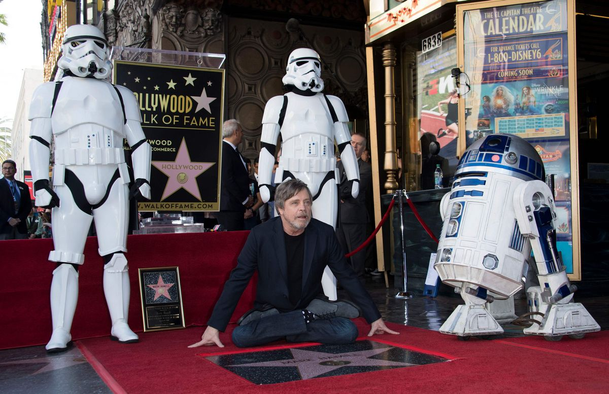Watch Mark Hamill Ignite a 'Star War' With Jimmy Kimmel On The Hollywood Walk Of Fame