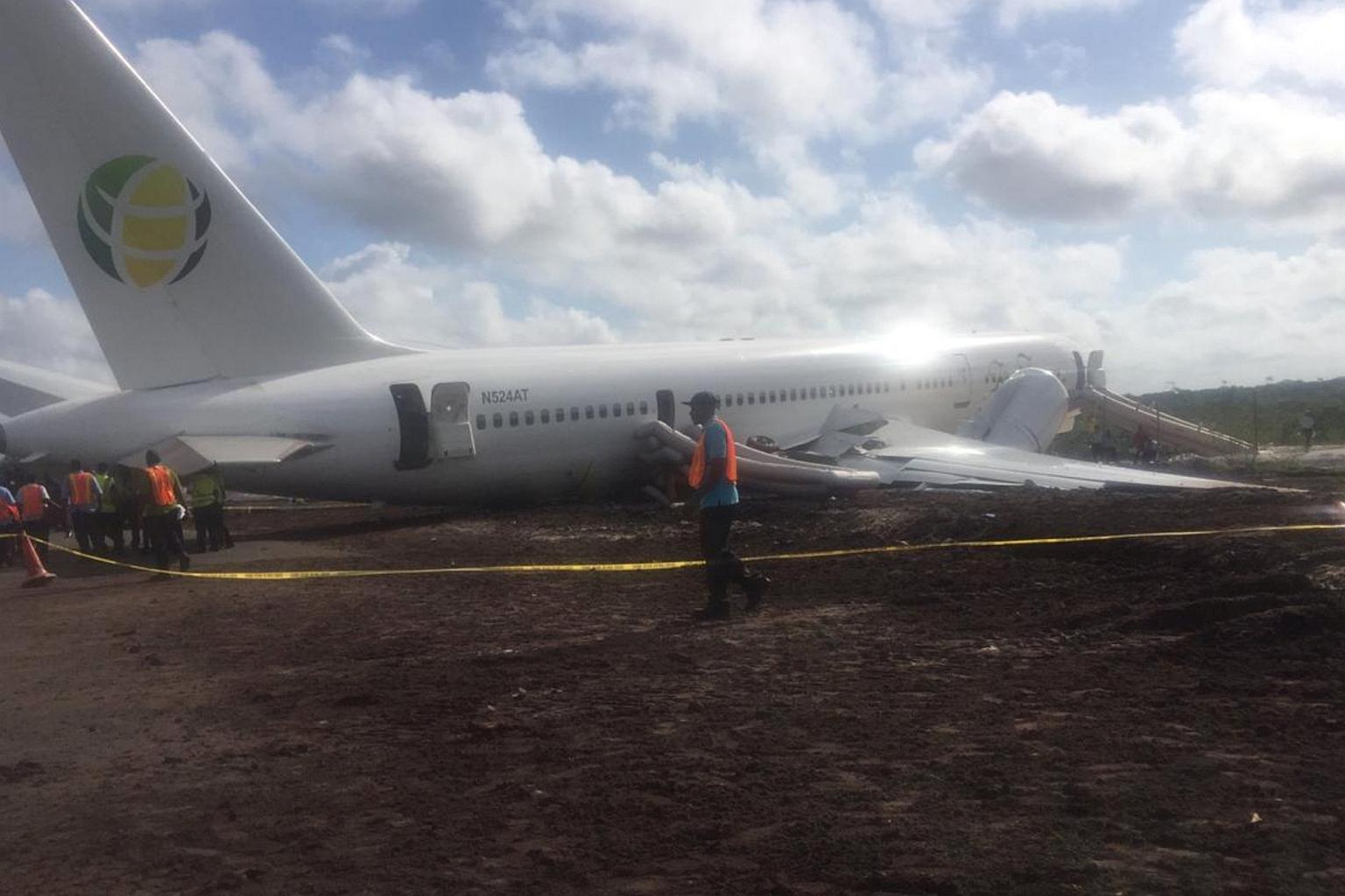 Bound flight crash lands in Guyana
