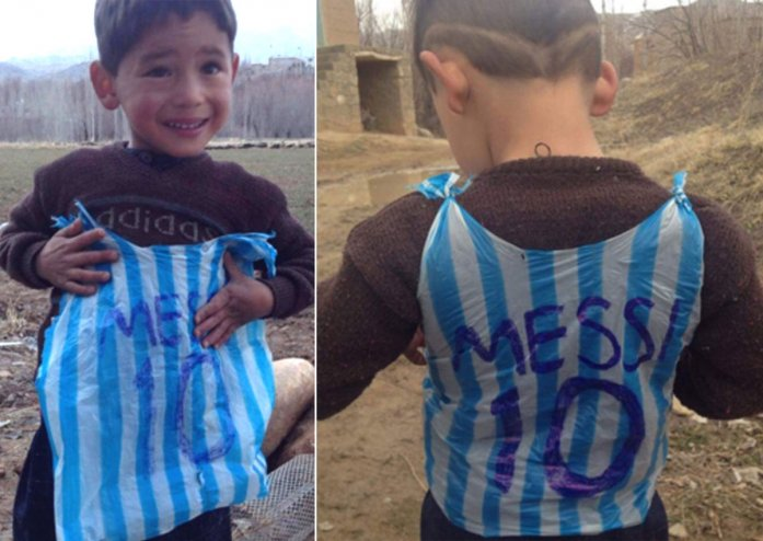 Afghanistan's 'little Messi' leaves behind signed shirt as family flees Taliban offensive