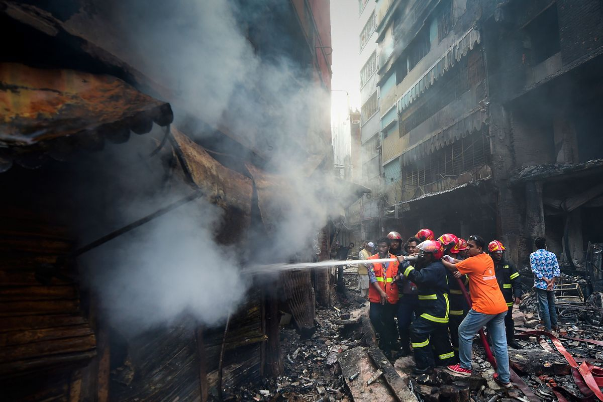 Dhaka: Massive fire in Bangladesh's capital kills at least 70