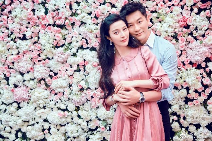 5420c03668 Fan Bingbing and Li Chen at their engagement party in 2017.Photo  Weibo Fan  Bingbing