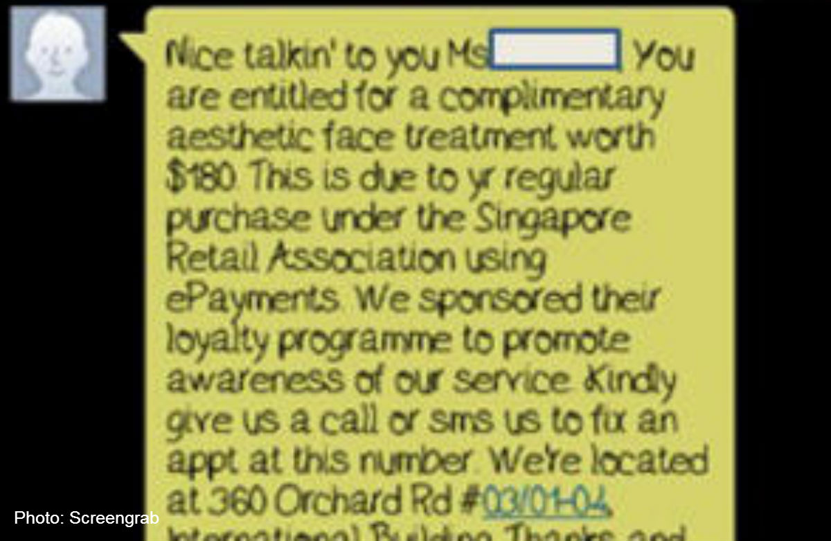 Beauty salon slammed for linking free package to SRA, Singapore News