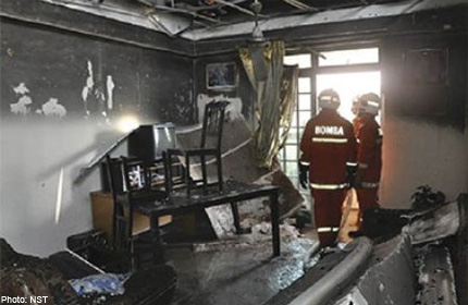 Fire destroys apartment in KL, Malaysia News - AsiaOne