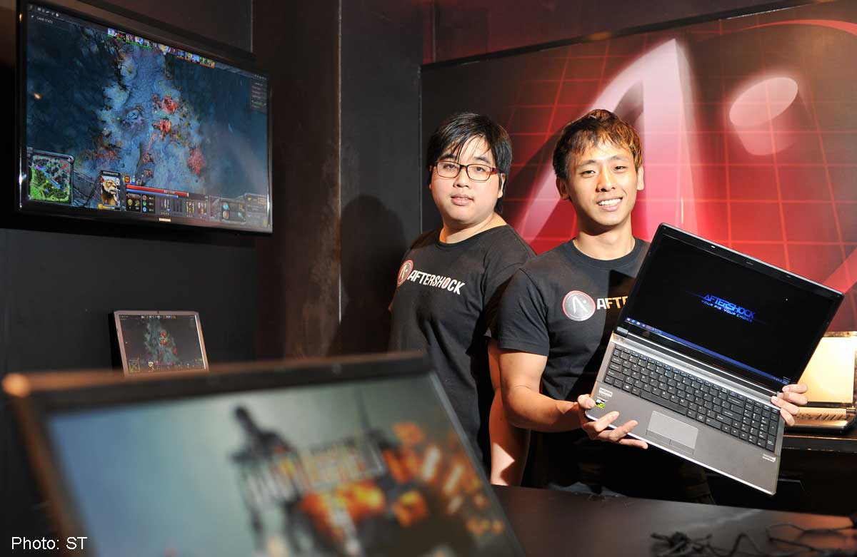 a4b6884bb0b6 Aftershock owners and fraternal twins Joseph (right) and Marcus Wee, who  had studied at the Geelong Grammar School in Australia, had played games  such as ...