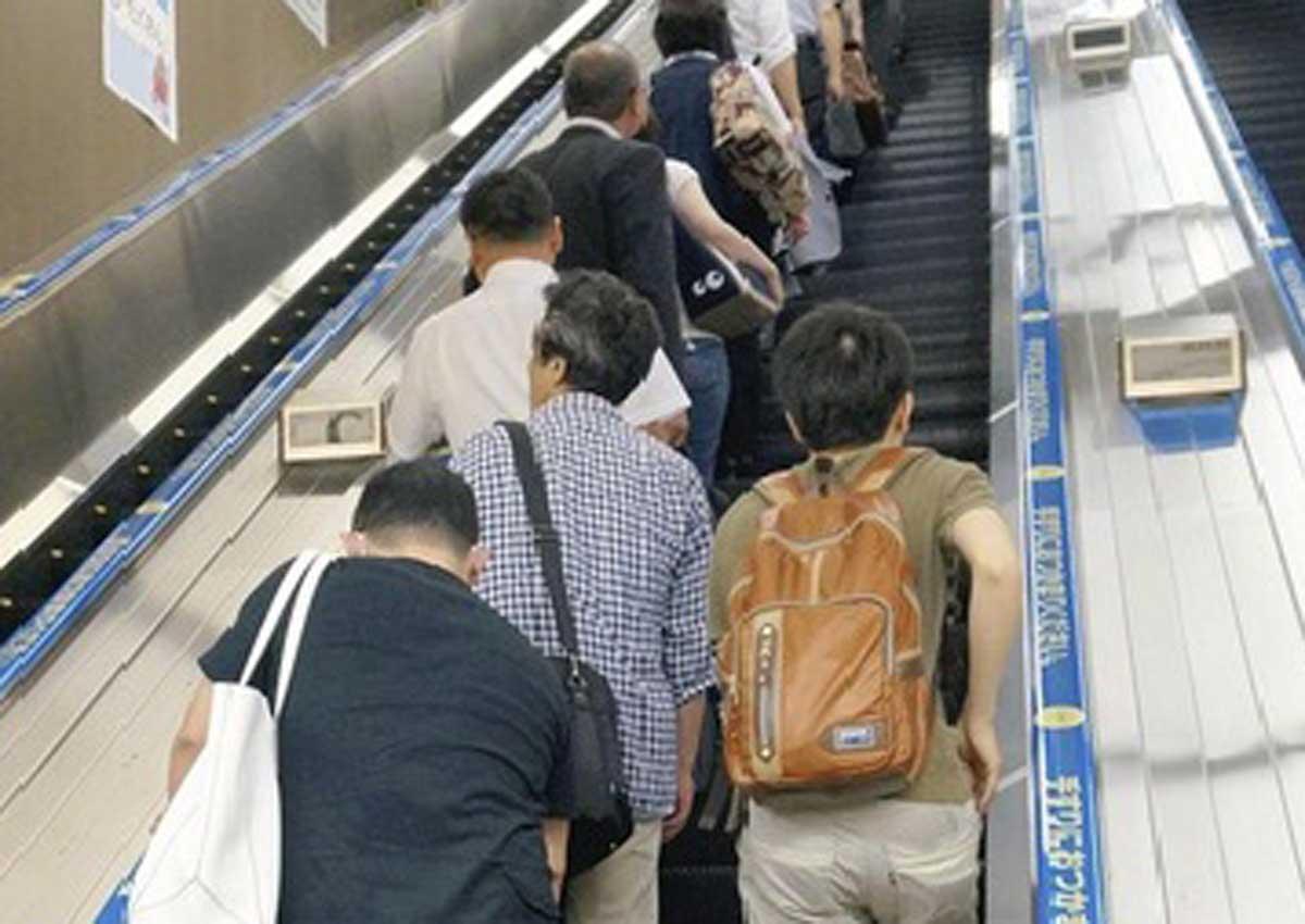 Image result for japan escalator etiquette